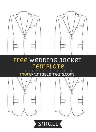 Free Wedding Jacket Template - Small