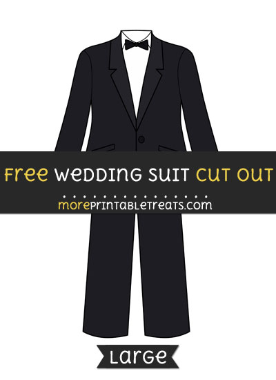 Free Wedding Suit Cut Out - Large size printable