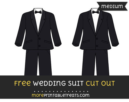 Free Wedding Suit Cut Out - Medium Size Printable