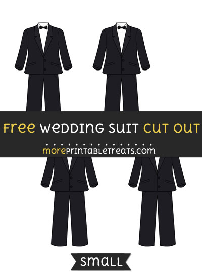 Free Wedding Suit Cut Out - Small Size Printable