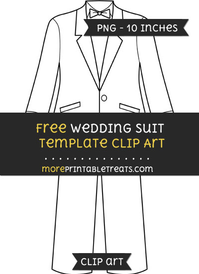 Free Wedding Suit Template - Clipart
