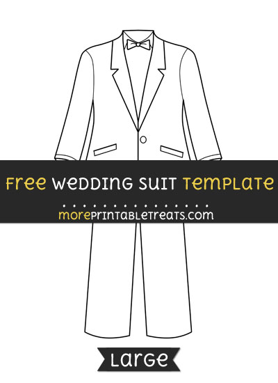 Free Wedding Suit Template - Large