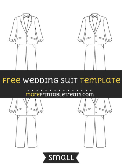 Free Wedding Suit Template - Small