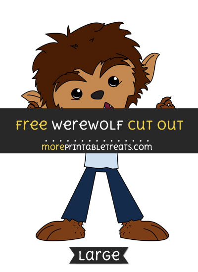 Free Werewolf Cut Out - Large size printable