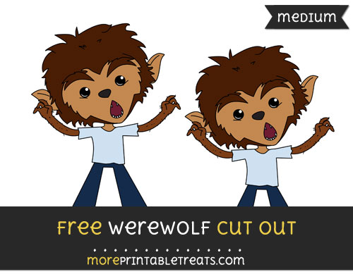 Free Werewolf Cut Out - Medium Size Printable