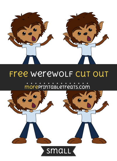 Free Werewolf Cut Out - Small Size Printable