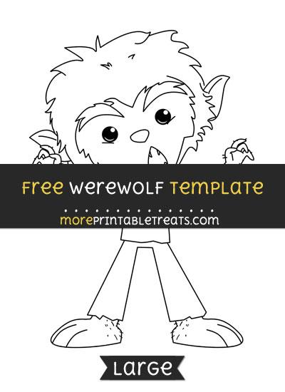 Free Werewolf Template - Large