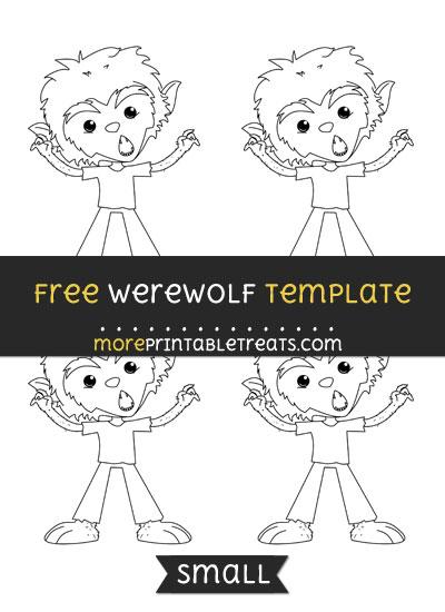 Free Werewolf Template - Small