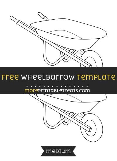 Free Wheelbarrow Template - Medium