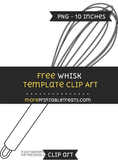 Free Whisk Template - Clipart