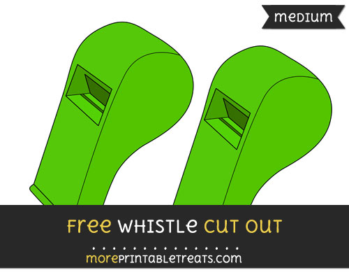 Free Whistle Cut Out - Medium Size Printable
