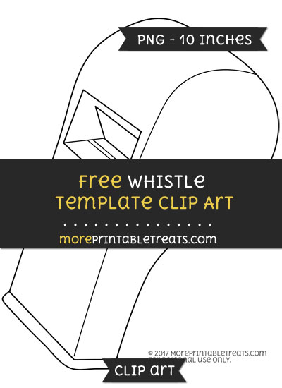 Free Whistle Template - Clipart