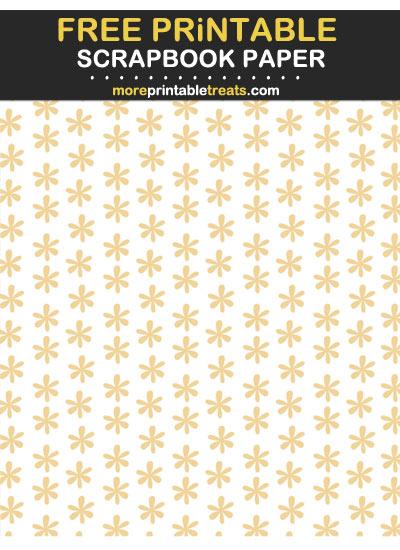 Free Printable Beige Daisy Scrapbook Paper