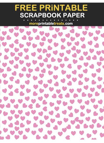 Free Printable Bubblegum Pink Heart Confetti Scrapbook Paper