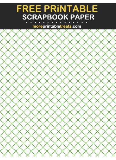 Free Printable Clover Green Dotted Trellis Scrapbook Paper
