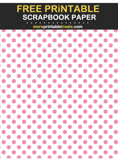 Free Printable Flamingo Pink Polka Dot Scrapbook Paper