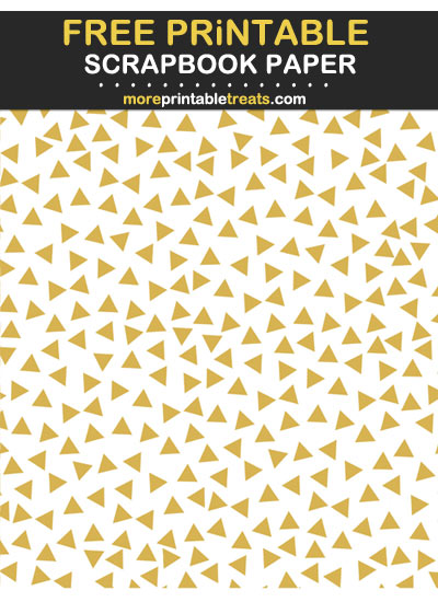 Free Printable Gold Triangle Confetti Scrapbook Paper