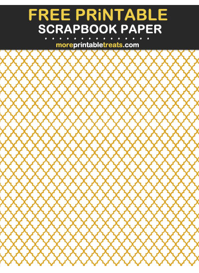Free Printable Goldenrod Moroccan Tile Scrapbook Paper