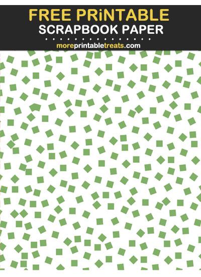 Free Printable Pistachio Green Square Confetti Scrapbook Paper