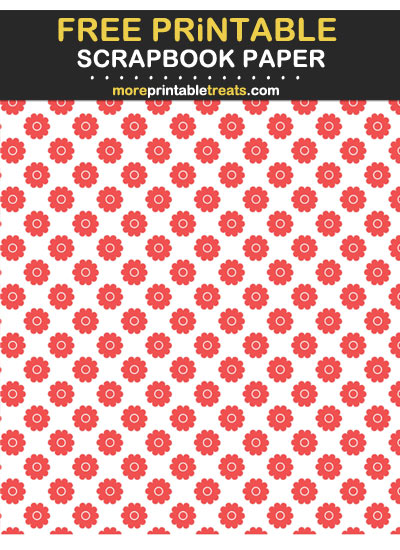 Free Printable Strawberry Pink Flowers Scrapbook Paper