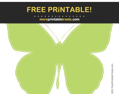 Free Printable White-Stitched Lime Green Cut Out