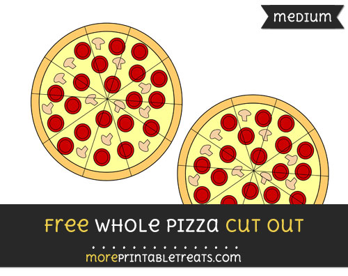 Free Whole Pizza Cut Out - Medium Size Printable