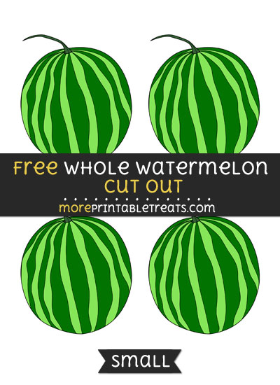 Free Whole Watermelon Cut Out - Small Size Printable
