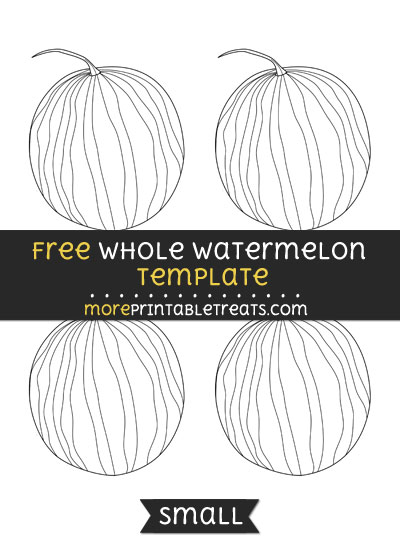 Free Whole Watermelon Template - Small