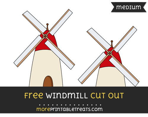 Free Windmill Cut Out - Medium Size Printable