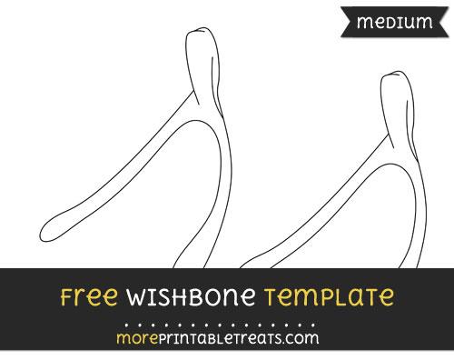 Free Wishbone Template - Medium
