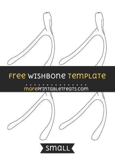 Free Wishbone Template - Small