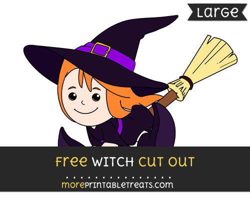 Free Witch Cut Out - Large size printable