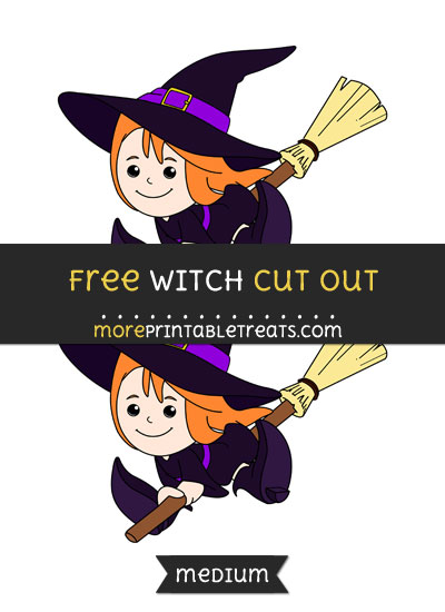 Free Witch Cut Out - Medium Size Printable