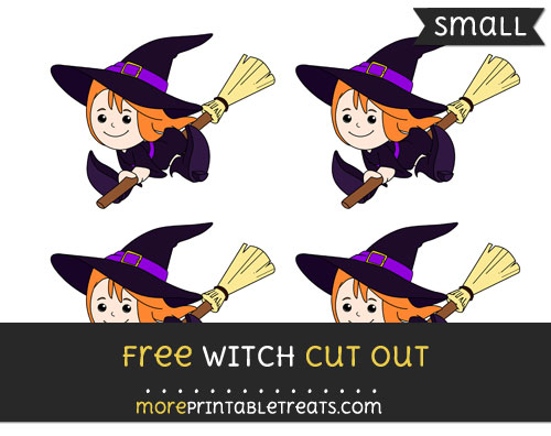 Free Witch Cut Out - Small Size Printable