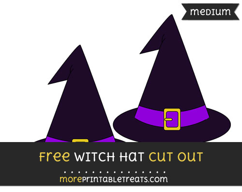 Free Witch Hat Cut Out - Medium Size Printable