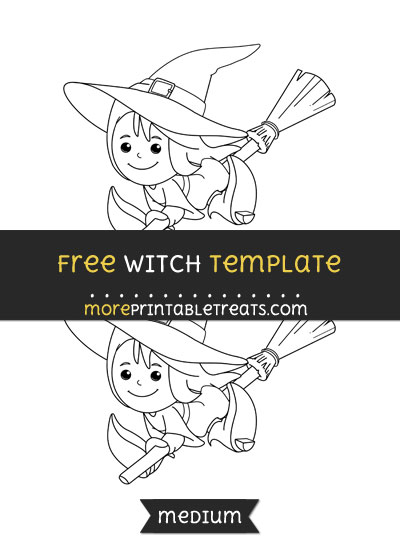 Free Witch Template - Medium