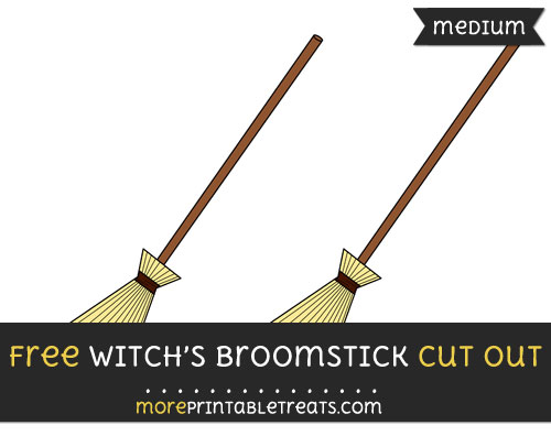 Free Witchs Broomstick Cut Out - Medium Size Printable