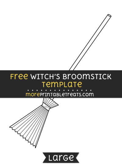 Free Witchs Broomstick Template - Large