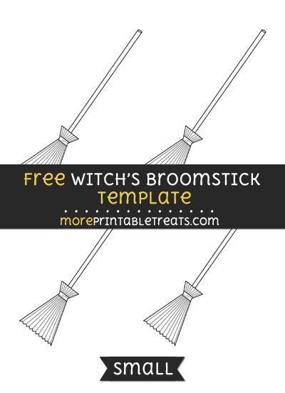 Free Witchs Broomstick Template - Small