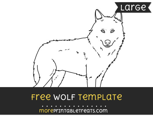 Free Wolf Template - Large