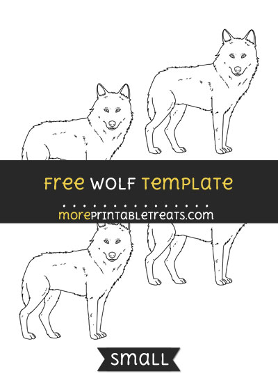 Free Wolf Template - Small