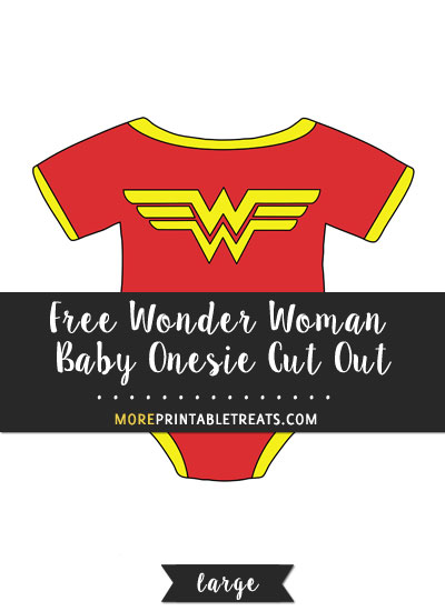 Free Wonder Woman Baby Onesie Cut Out - Large