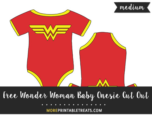 Free Wonder Woman Baby Onesie Cut Out - Medium