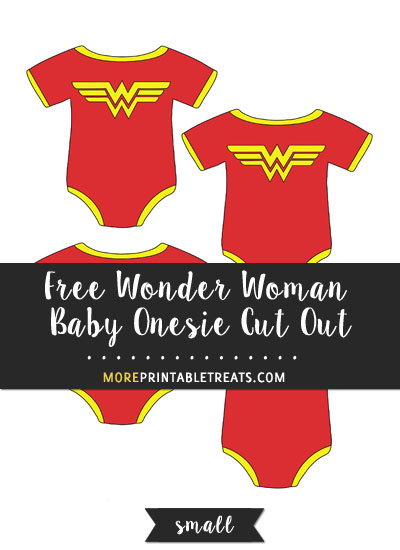 Free Wonder Woman Baby Onesie Cut Out - Small