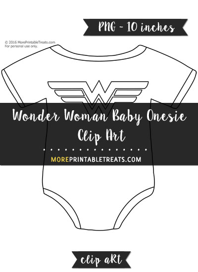 Free Wonder Woman Baby Onesie Template - Clipart