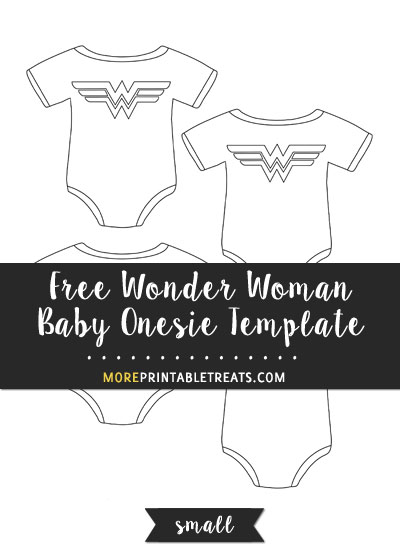 Free Wonder Woman Baby Onesie Template - Small Size