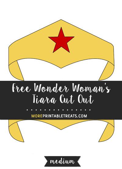 Free Wonder Woman's Tiara Cut Out - Medium