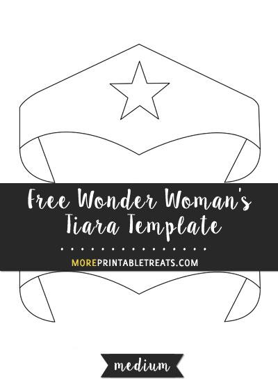 Free Wonder Woman's Tiara Template - Medium Size
