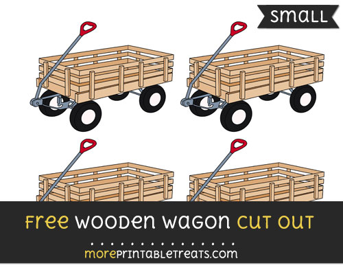 Free Wooden Wagon Cut Out - Small Size Printable