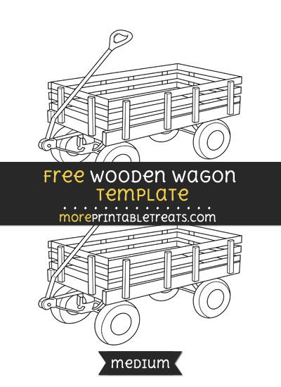 Free Wooden Wagon Template - Medium